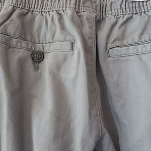 Old Navy Pants - Old Navy Gray Twill Jogger Draw String Pants SP